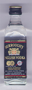 «Burrough's English Vodka»
